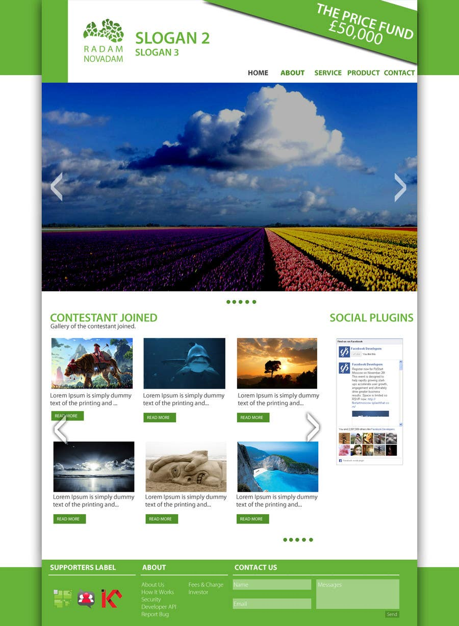 #7 for Design for website front page by Syahriza