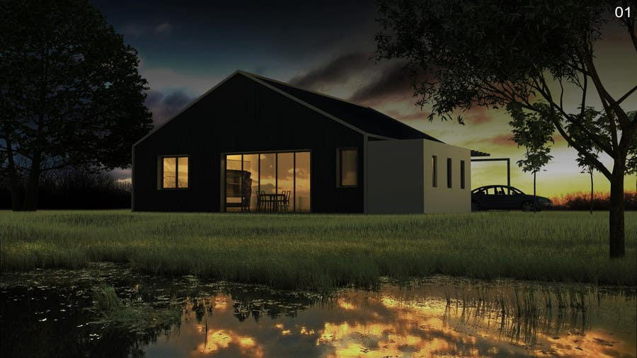 #9 for Riverfront Residence Render by rky3008