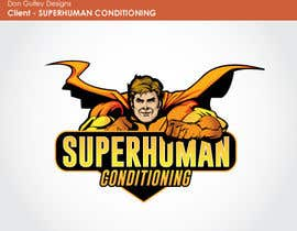 nº 8 pour Design a 'comic book style' Logo for: Superhuman Conditioning par dongulley