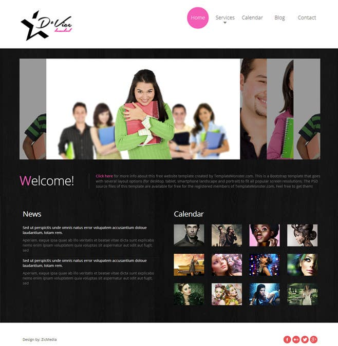 #7 for Design website template based on style logo by zicmedia