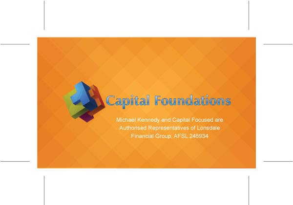#2 for Design Business Cards and a logo for Capital Foundations an insurance advice business by tanveer230