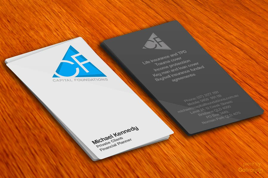 #15 for Design Business Cards and a logo for Capital Foundations an insurance advice business by amitpadal