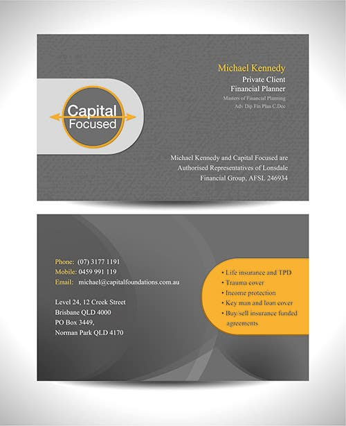 #13 for Design Business Cards and a logo for Capital Foundations an insurance advice business by graphics15