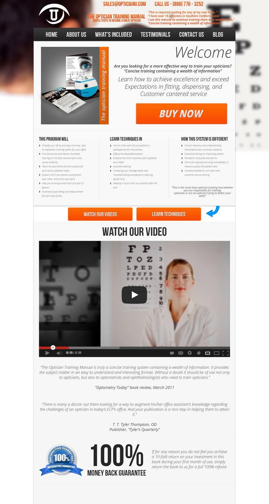 Penyertaan Peraduan #                                        9                                      untuk                                         Design a Website Mockup for www.OpticianTraining.com