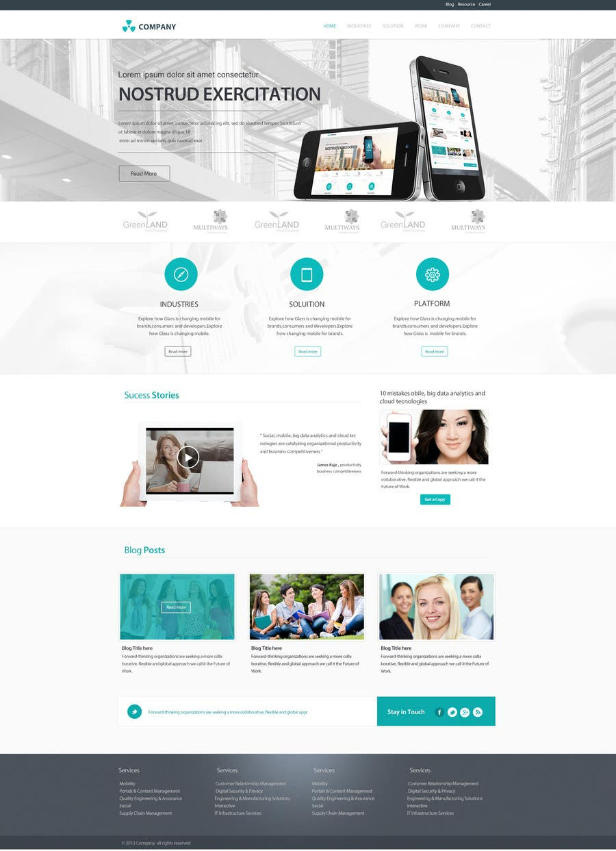 #24 for Home Page Design for a Corporate Site ( Would evolve into long term contract) by SadunKodagoda