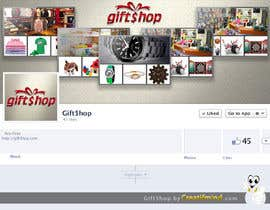 #30 untuk Design a Logo and facebook cover Name: Gift$hop oleh creatifmind
