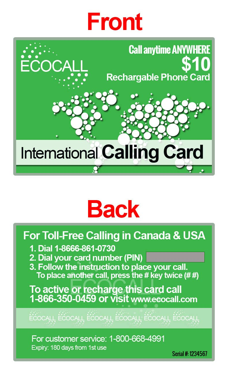 #22 for Prepaid Calling Card Design by sharpBD