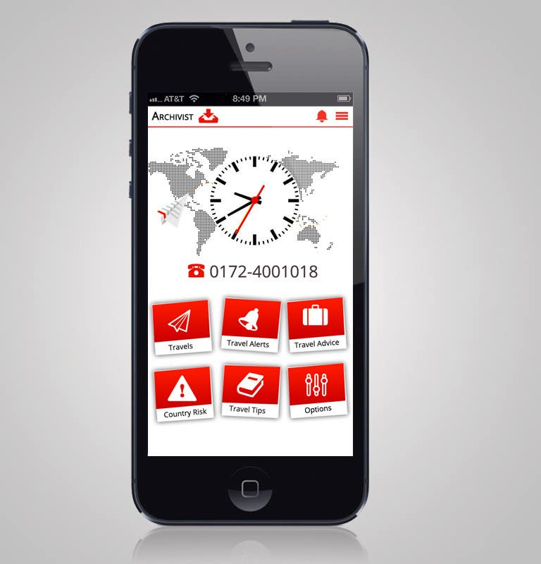 #36 for Design the main page for a travel security app by MagicalDesigner