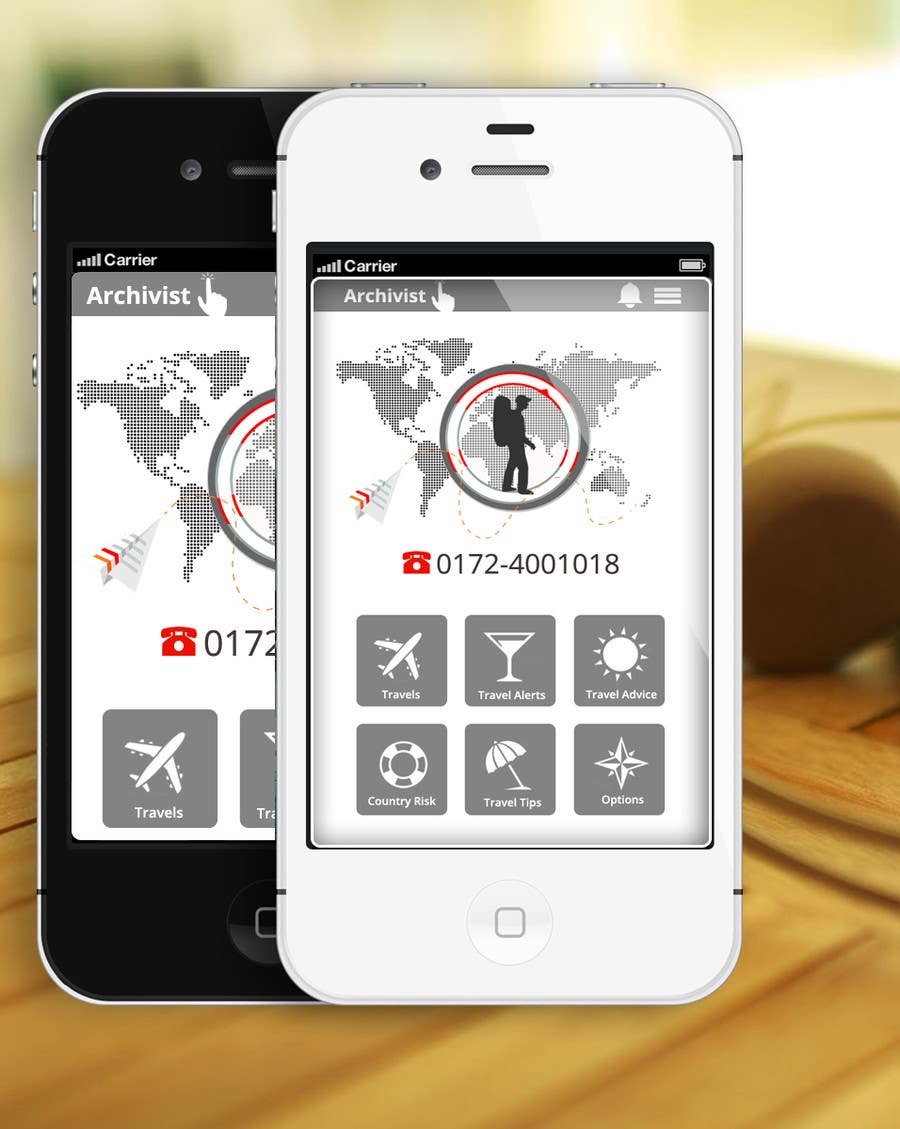 #41 for Design the main page for a travel security app by MagicalDesigner
