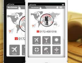 #41 cho Design the main page for a travel security app bởi MagicalDesigner