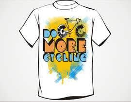 "#19 untuk Design a T-Shirt for ""Do More Cycling"" oleh artist4"