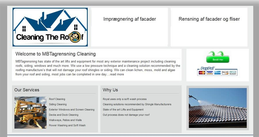 Konkurrenceindlæg #                                        8                                      for                                         Make banner for roofcleaning service. Will open for more related jobs as well