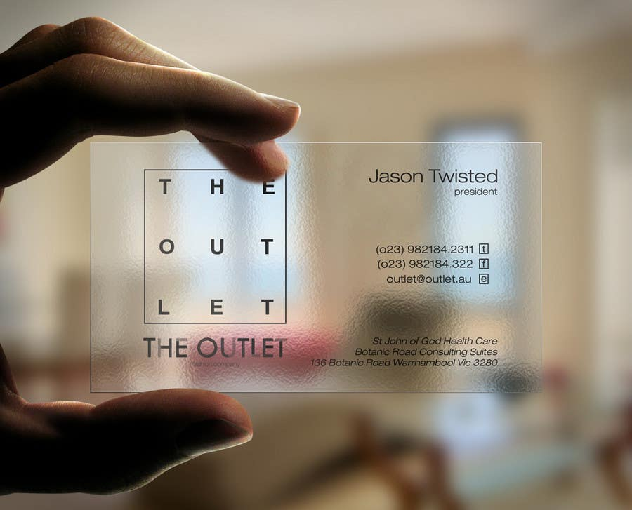 Contest Entry #52 for Business Card Design for The Outlet Fashion Company
