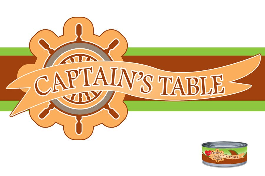 Penyertaan Peraduan #106 untuk Design a logo for the brand 'Captain's Table'