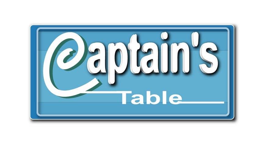 Penyertaan Peraduan #56 untuk Design a logo for the brand 'Captain's Table'