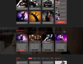 #31 for Design a Website Mockup for a Country Musician af SantoJames