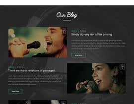 #37 for Design a Website Mockup for a Country Musician af webmastersud