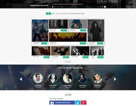 creative223 tarafından Design a Website Mockup for a Country Musician için no 33