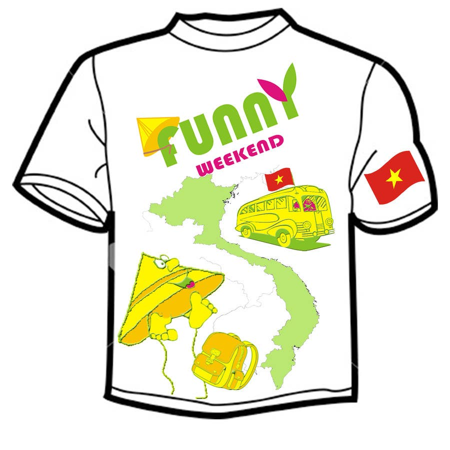 Entry 5 By Plamiix For T Shirt Design For Funny Weekend Ltd 2