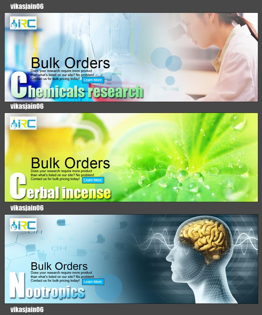Bài tham dự cuộc thi #11 cho Banner Ad Design for Import Research Chemicals
