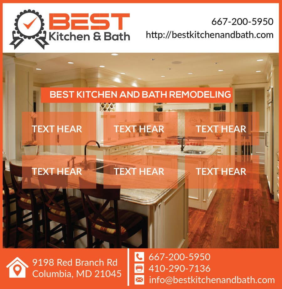 Advertisement flyer design for kitchen remodeling company for Kitchen remodeling companies