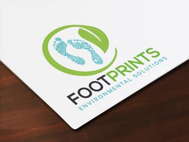 ingamul tarafından Logo for Footprints Environmental Solutions için no 24