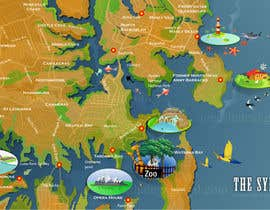 Nro 12 kilpailuun Illustrate Map of Sydney with cartoon like elements käyttäjältä aneeshate