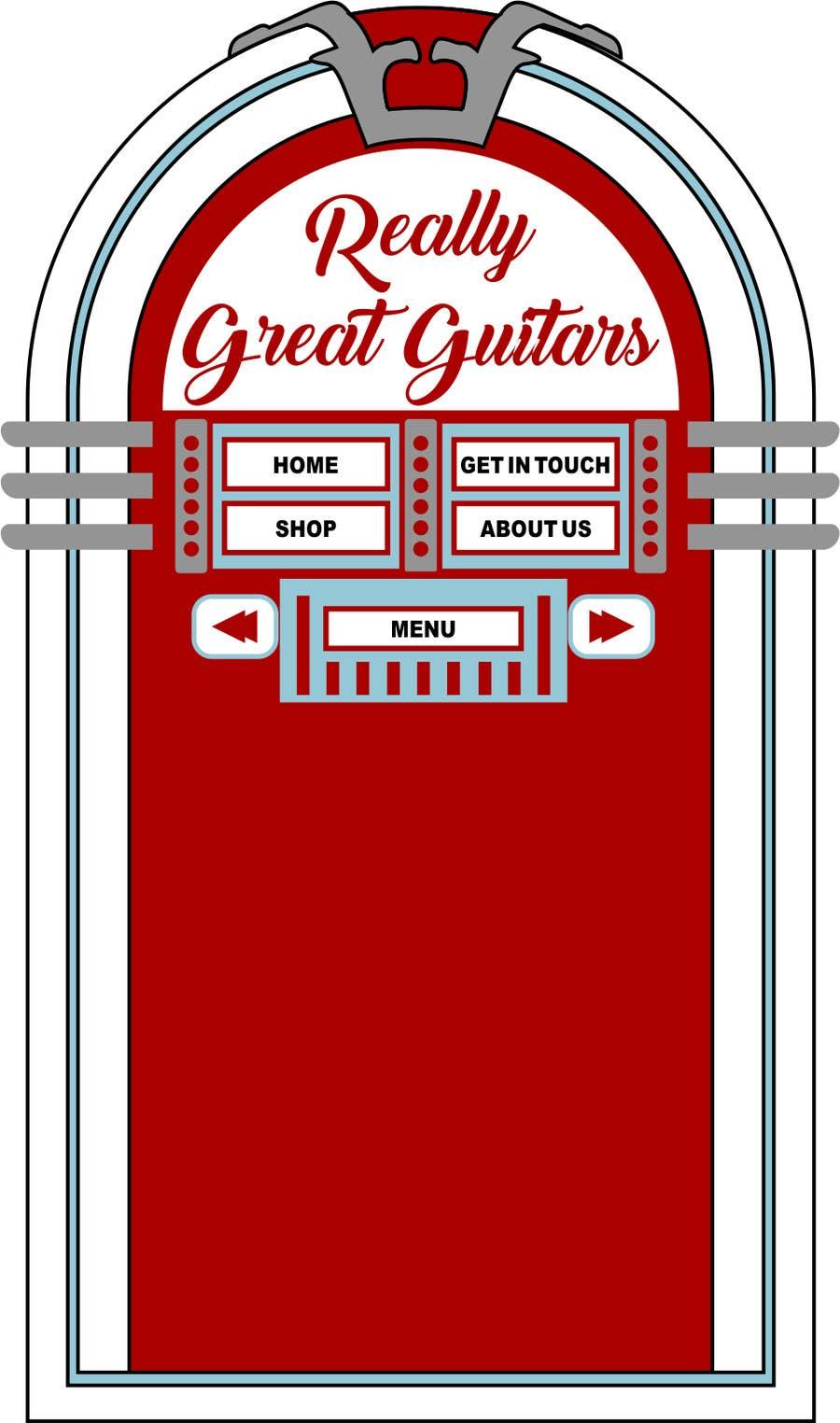 Penyertaan Peraduan #                                        39                                      untuk                                         1950's American Diner Theme (guitar shop)