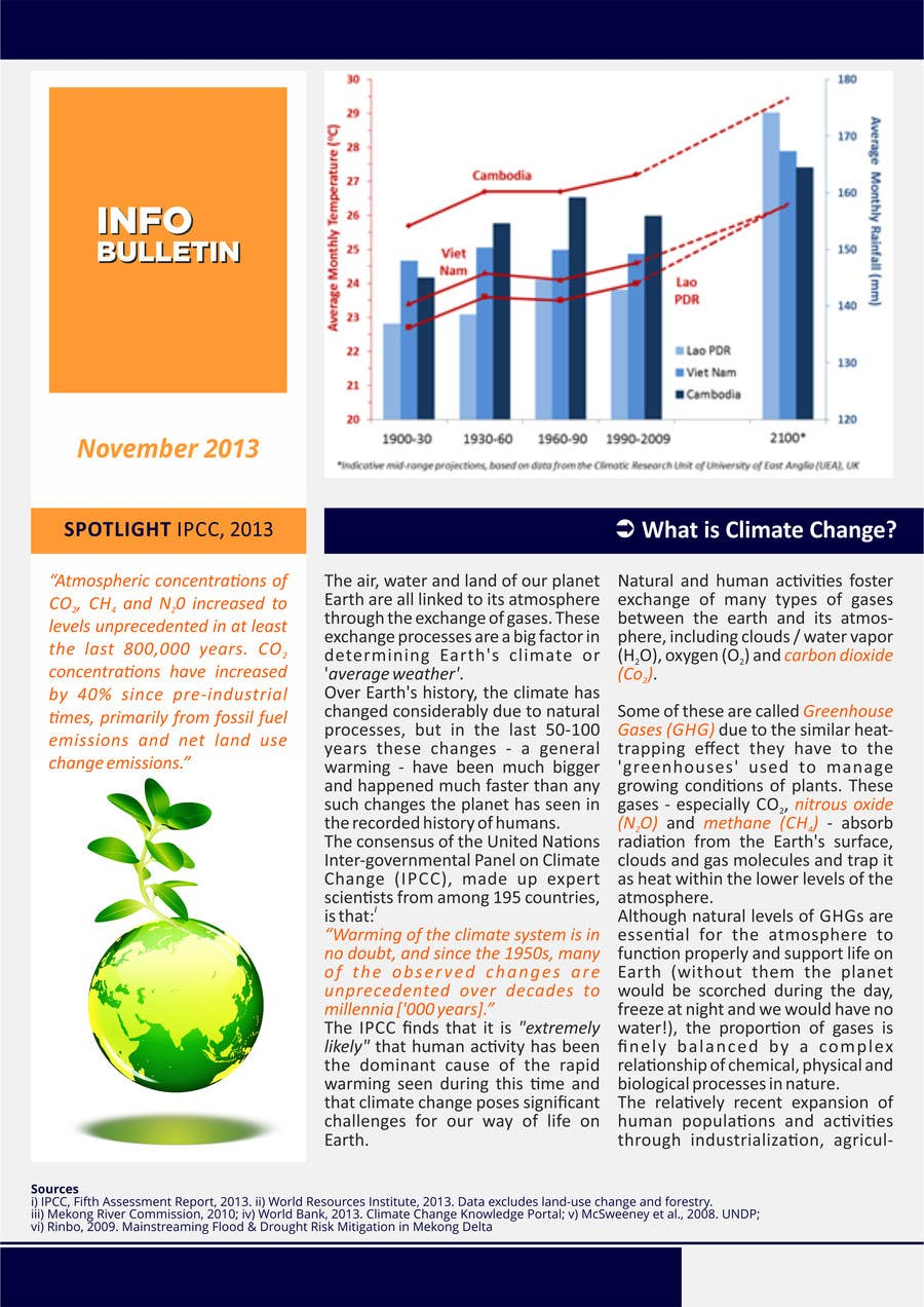 #1 for Design a Info-Bulletin template for a climate change & agriculture awareness-raising by barinix