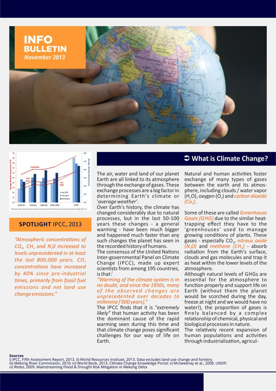 #2 for Design a Info-Bulletin template for a climate change & agriculture awareness-raising by barinix