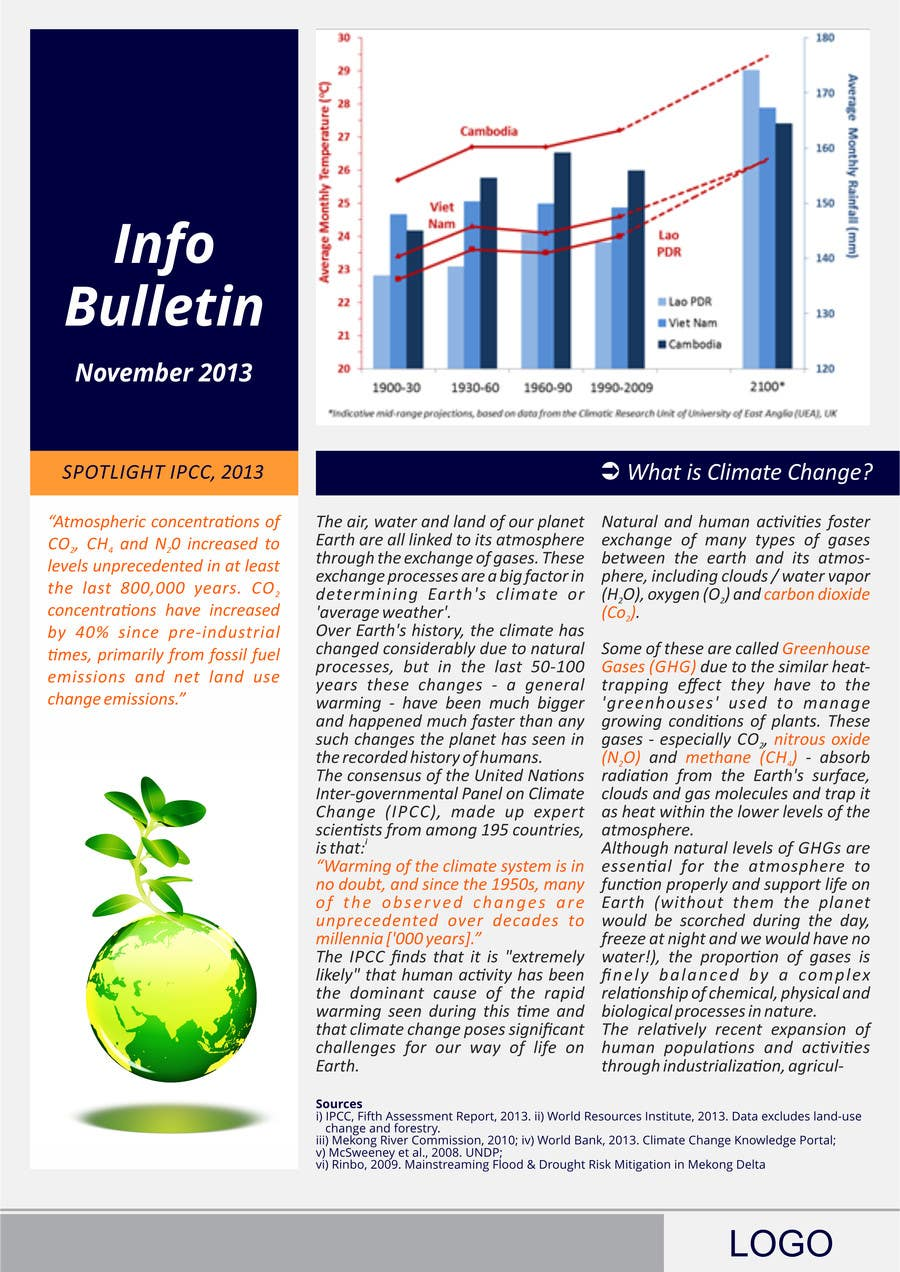 #18 for Design a Info-Bulletin template for a climate change & agriculture awareness-raising by barinix