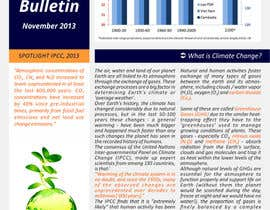nº 18 pour Design a Info-Bulletin template for a climate change & agriculture awareness-raising par barinix