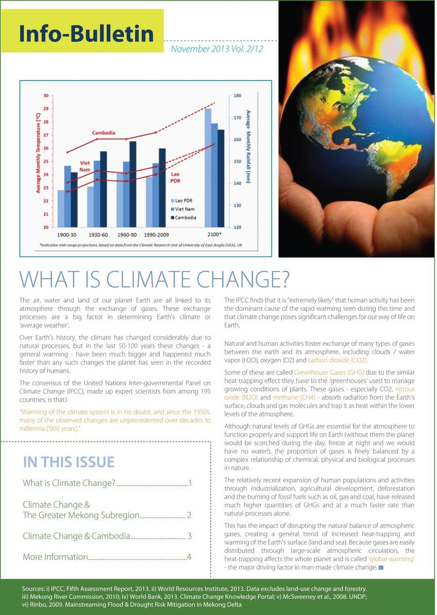 #25 for Design a Info-Bulletin template for a climate change & agriculture awareness-raising by amcgabeykoon