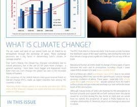 nº 25 pour Design a Info-Bulletin template for a climate change & agriculture awareness-raising par amcgabeykoon