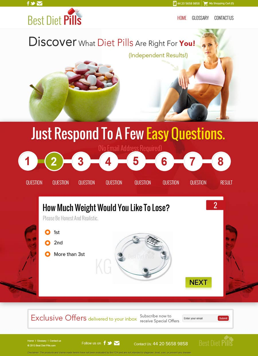 #15 for Design a Website Mockup for Weight Loss Website by suryabeniwal