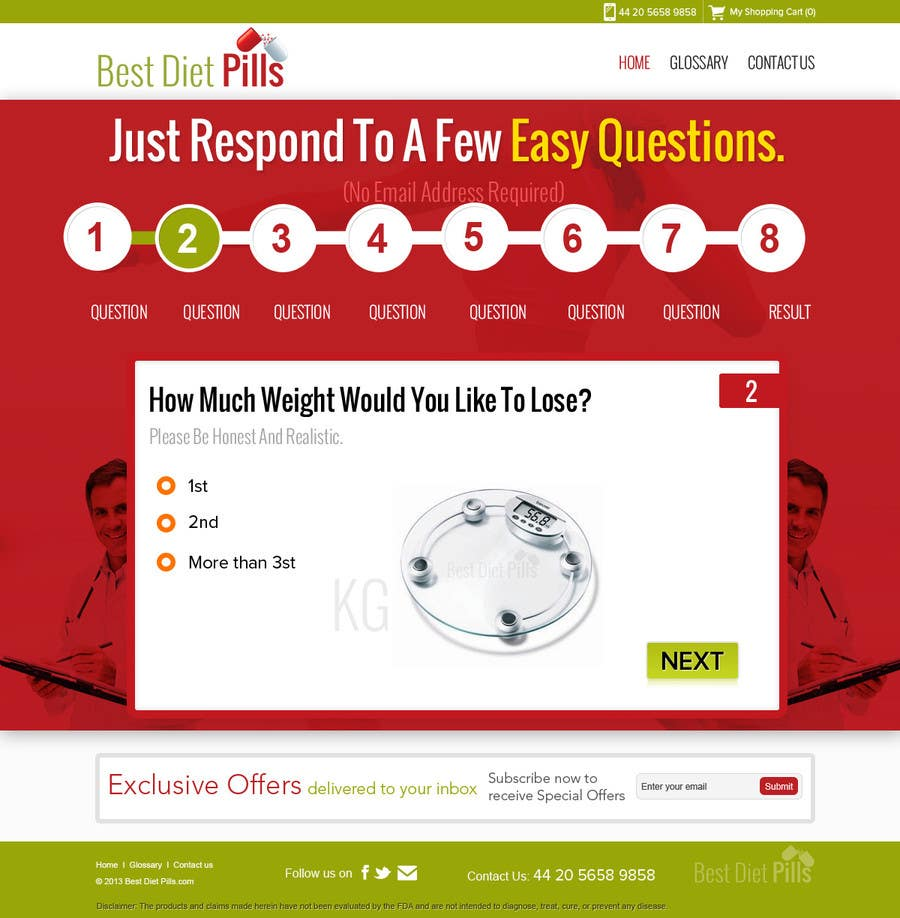 #17 for Design a Website Mockup for Weight Loss Website by suryabeniwal