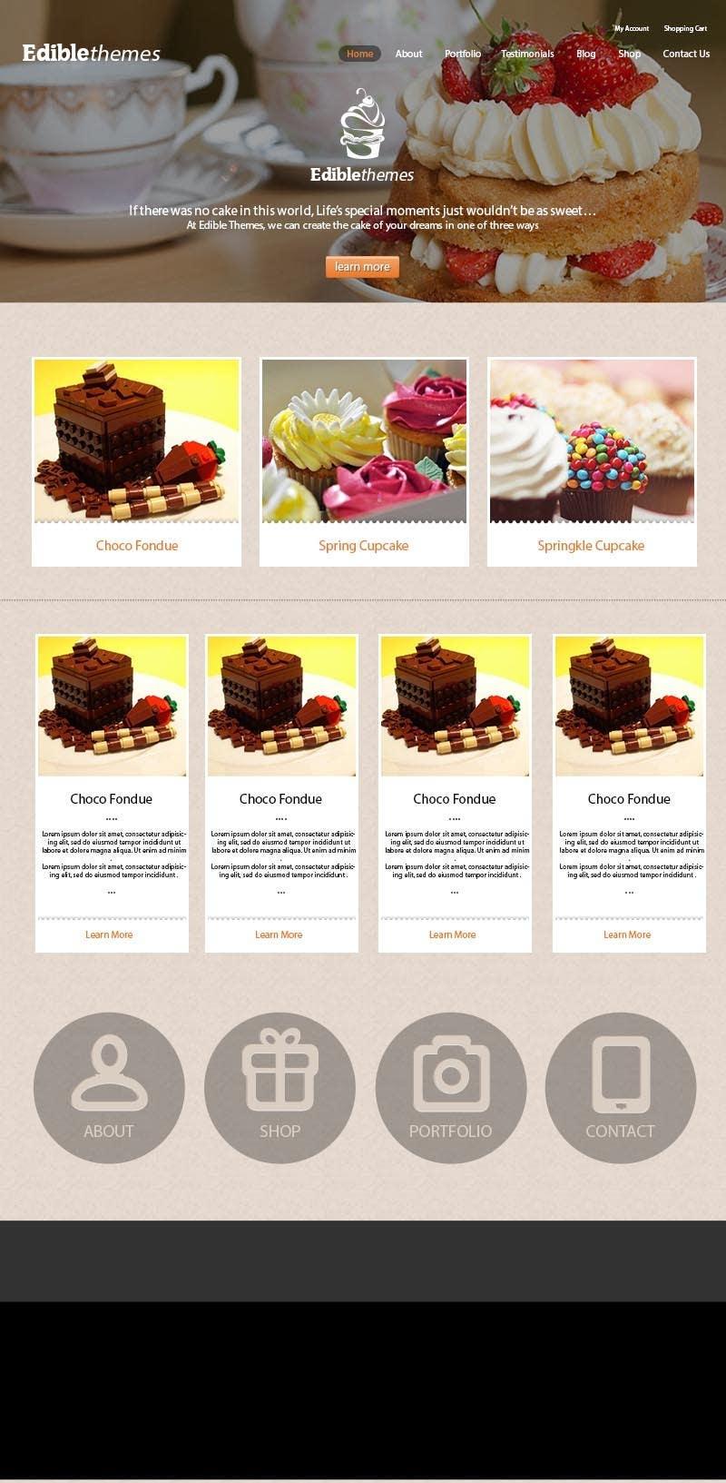 Kilpailutyö #6 kilpailussa Design a layout of existing web site