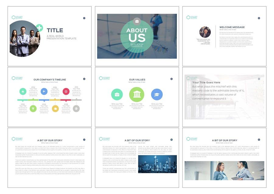 Kilpailutyö #26 kilpailussa Design a Powerpoint template