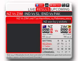 #19 pentru Graphic Design for Cricket Widget redesign de către Anamh
