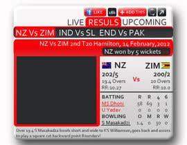Anamh tarafından Graphic Design for Cricket Widget redesign için no 18