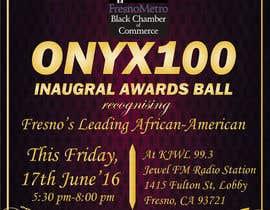 Nro 12 kilpailuun Design a Flyer- Onyx 100 Honoree Reception käyttäjältä divpa1992