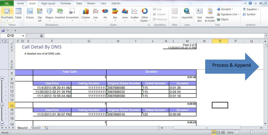 Konkurrenceindlæg #1 for Excell sheet that will take grouped data and ungroup it and organize it