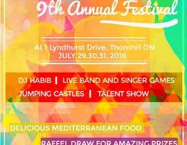 Nro 23 kilpailuun church festival poster käyttäjältä Amindesigns