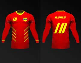 Nro 19 kilpailuun Design a soccer Jersey käyttäjältä Rhandyv