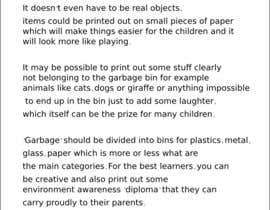 #7 para Idea for children game about recycling/ sustainable development por codefive