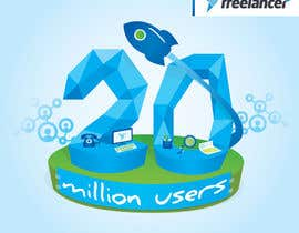 #253 for Design Contest: Freelancer.com Hits 20M Users af dighie31