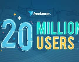 #285 for Design Contest: Freelancer.com Hits 20M Users af rcdjasmin