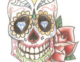 #4 untuk Day of the Dead - Sugar Skull Design / Cartoon / Illustration oleh thedeargrandson