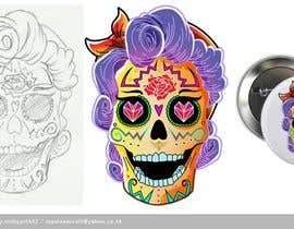 #24 untuk Day of the Dead - Sugar Skull Design / Cartoon / Illustration oleh mobyartist2