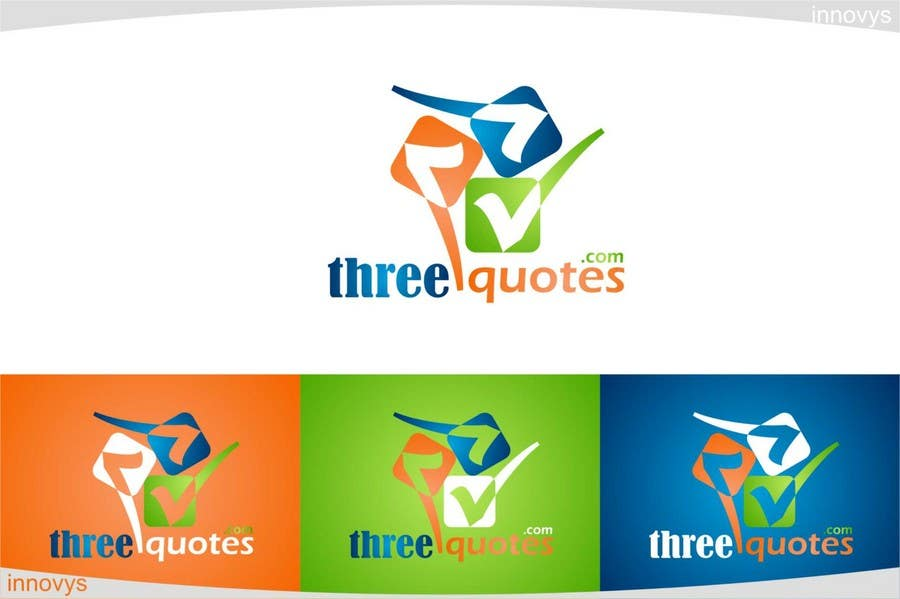 Penyertaan Peraduan #111 untuk Logo Design for For a business that allows consumers to get 3 quotes from service providers